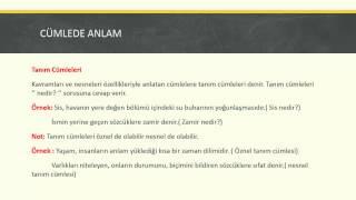 KPSS Tv | Türkçe- Cümlede Anlam Konu Anlatımı