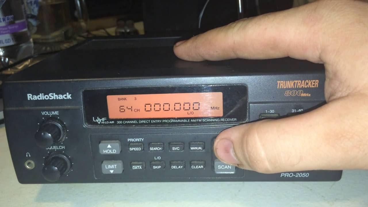 RadioShack Pro 2050 Scanner Programming Tutorial Police Scanner