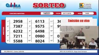 Sorteo de QUINIELA DE CORDOBA 21.11.2018 14:00hs
