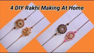 4 DIY Rakhi making with easy method