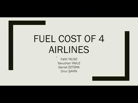 THE TOTAL AND TOTAL FUEL COST OF 4 AIRLINES