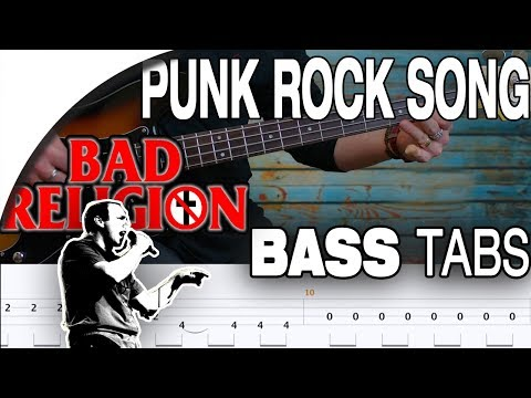 Bad Religion - Punk Rock Song | Bass Cover With Tabs in the Video