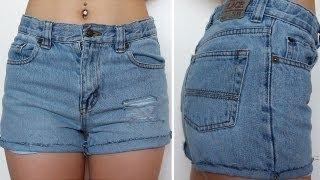 how to   diy high waist distressed denim shorts   eva chung