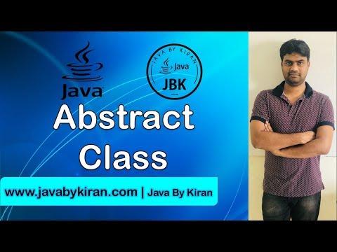 ABSTRACT  CLASS -By Kiran Sir-JAVA By Kiran,Pune