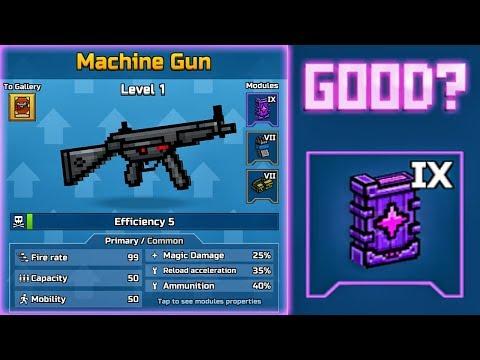 Machine Gun With 9 Lvl Magic Module, Its Good? - Pixel Gun 3D New Update 16.7