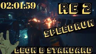 Resident Evil 2 Remake : Speedrun Leon B (Standard) (PS4)