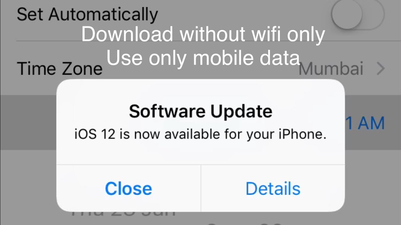 iPhone Update 12 without wifi | Apple tips