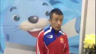 BODYMAKER製のカンボジア選手団公式ユニフォームを着用した、アジア大会...