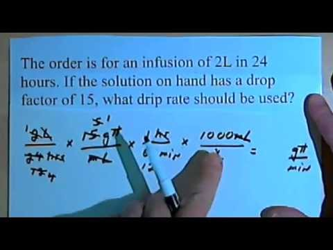 Drug Calculations IV Drip Rate