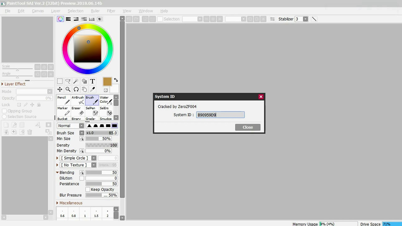 paint tool sai software licence