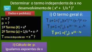 BINÔMIO DE NEWTON 5 - CÁLCULO TERMO INDEPENDENTE, MÉDIO - CC V31