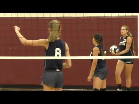 Maddy 8th grade volleyball @ waterloo