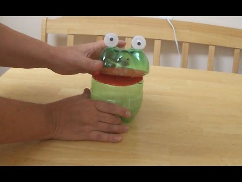Recycled Project Ideas For Kids Funny Frog From Plastic