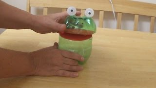 Recycled Project Ideas for Kids: Funny Frog From Plastic Bottles  DIY