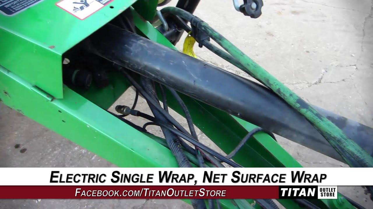 John Deere 467, Silage Spec ,Elec  Single Wrap Type,Net Wrap Baler-Round  Sold on ELS!