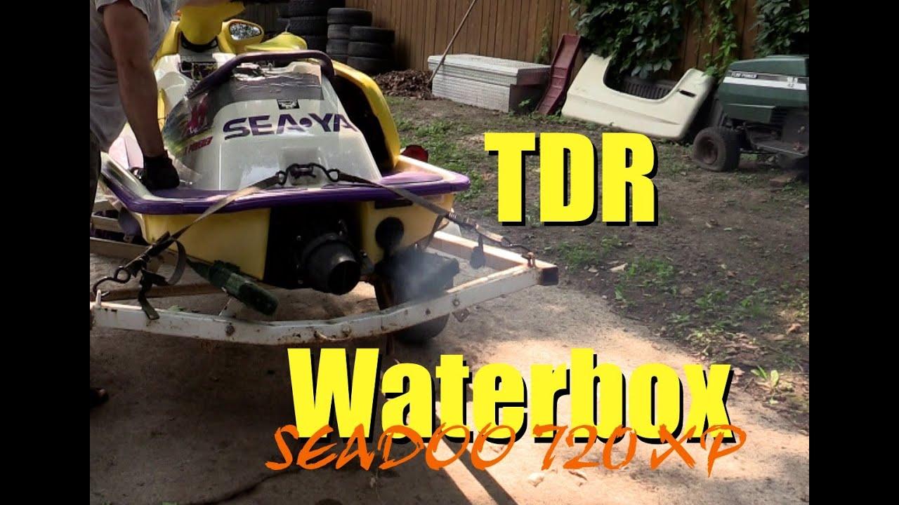 Seadoo 720 XP stock exhaust vs TDR Waterbox! (LOUD!) w/ Installation