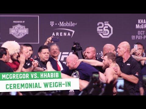 Conor McGregor vs. Khabib Nurmagomedov    Ceremonial Weigh-Ins