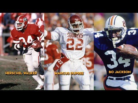 Bo Jackson, Herschel Walker, Marcus Dupree - 3 Greats *College Highlights HD
