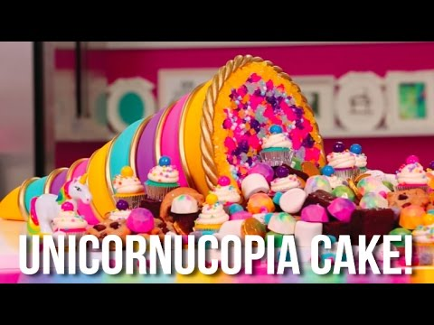 how to make a thanksgiving unicorn cornucopia cake a bounty of