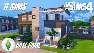 (Juego Base - 8 Sims) Casa Moderna | Los Sims 4 Speed Build