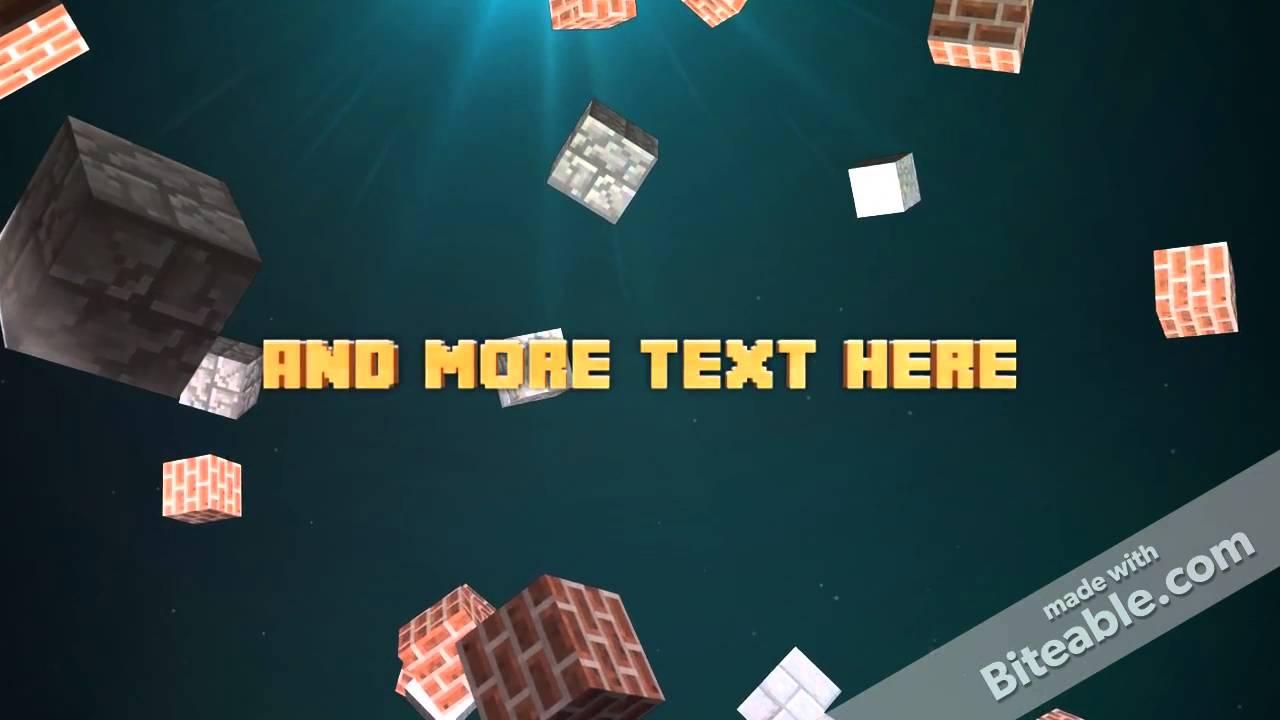 Minecraft Intro Video Maker