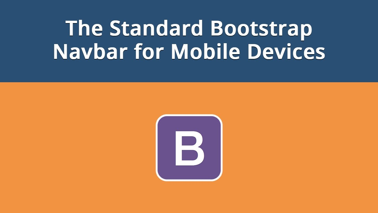 How to Create the Standard Bootstrap Navbar and Button for Mobile