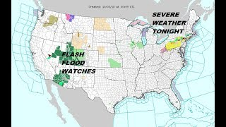 Severe Weather, Flash Flooding SW, Leslie, Sergio, Walaka & the Long Range