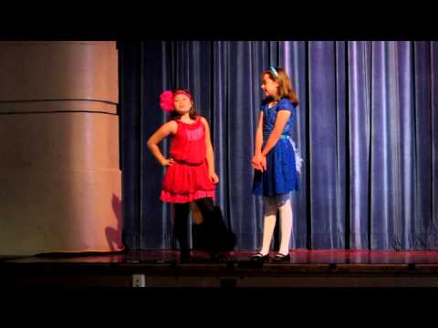 Penelope and Sophie in the Glenview Elementary production of Suessical Jr.