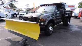 For Sale 2008 Ford F-350 Mason Dump Truck w/ Plow 20K Miles