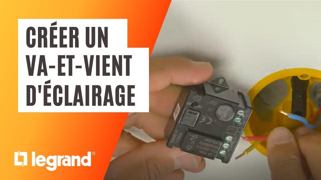 pret a poser legrand creer un va et vient d eclairage sans fil avec un micromodule