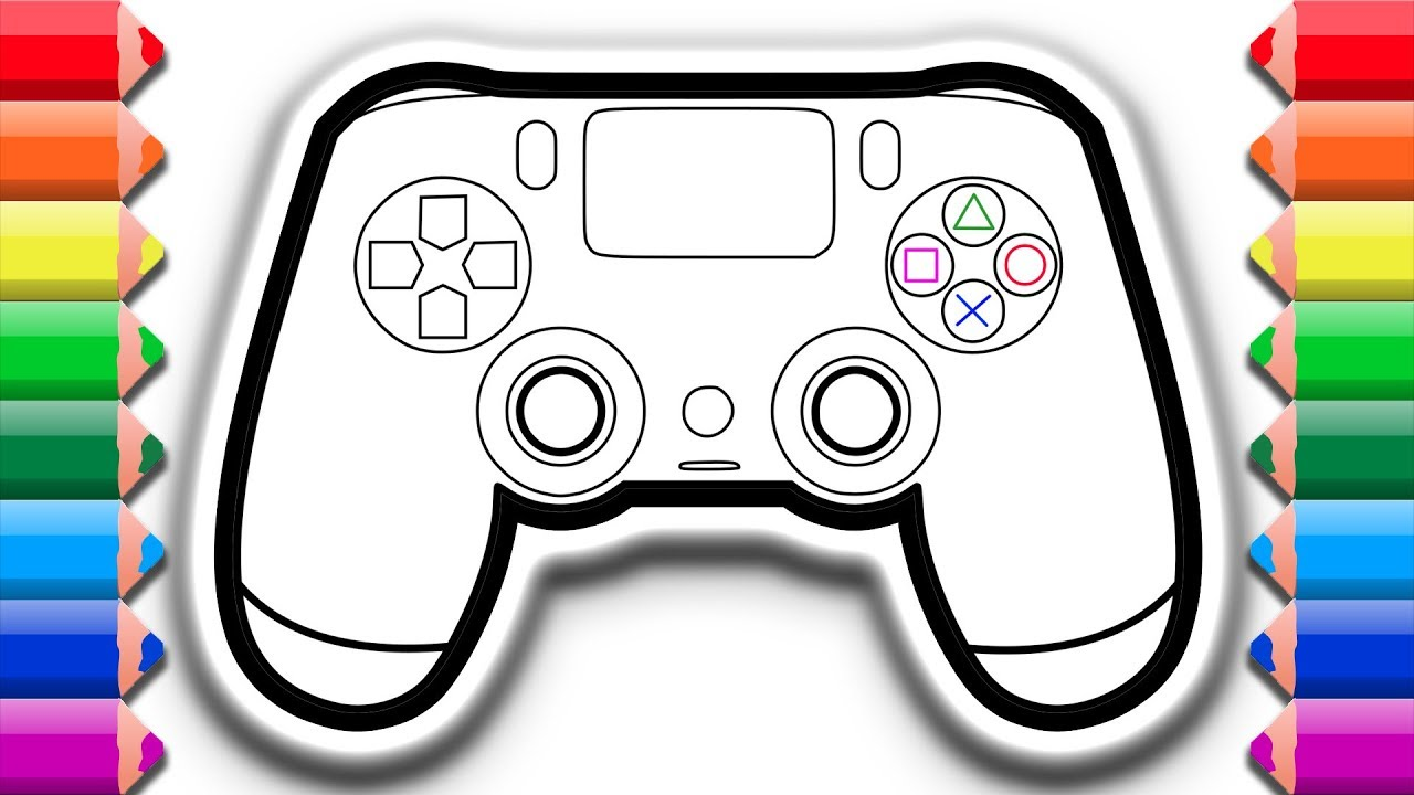 How to draw and color a PS4 dualshock controller ...
