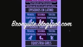 ¡Página para ver todos los episodios de MLP Online! - Bronysite