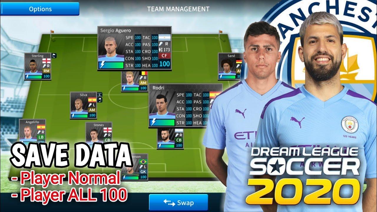 Save Data Manchester City FC Dream League Soccer 2019 2020