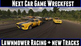 Next Car Game Wreckfest Lawnmower Racing + New Tracks