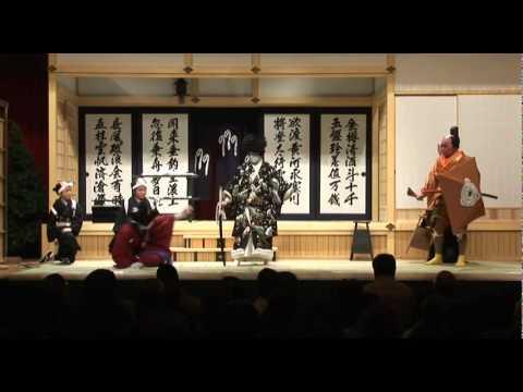 """Kabuki -Japanese tradition entertainment """"Sugawara Denju Tenarai Kagami"""""""