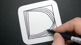 Letter D Spiral Drawing - Alphabet Series - Relaxing Art Therapy - Satisfying Demo