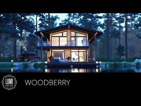 Проект дома в стиле шале - Woodberry. Компания LUMI POLAR.