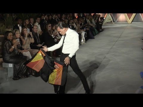 Antonio Banderas on the runway of Fashion for Relief in Cannes