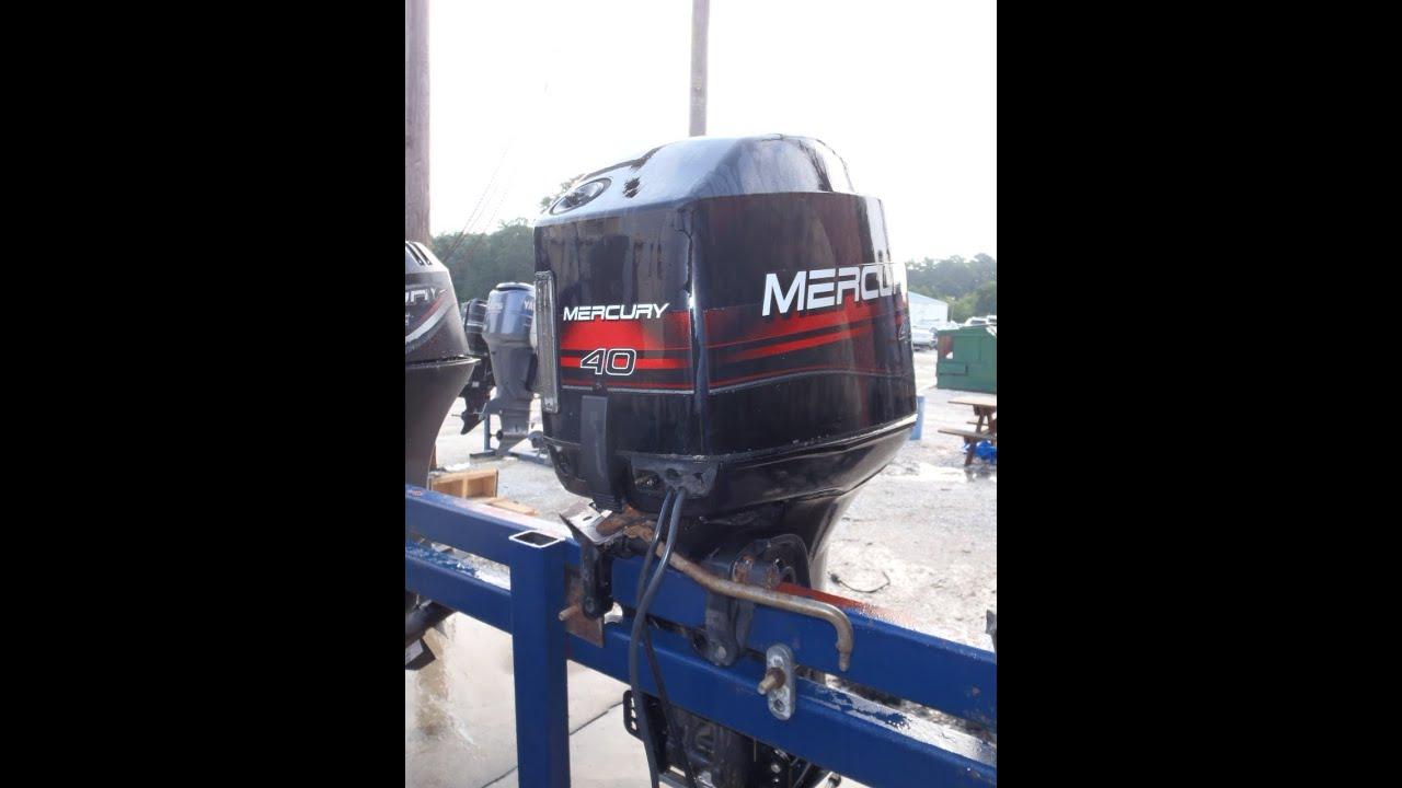 6m2213 Used 1998 Mercury 40elpto 40hp 2 Stroke Outboard