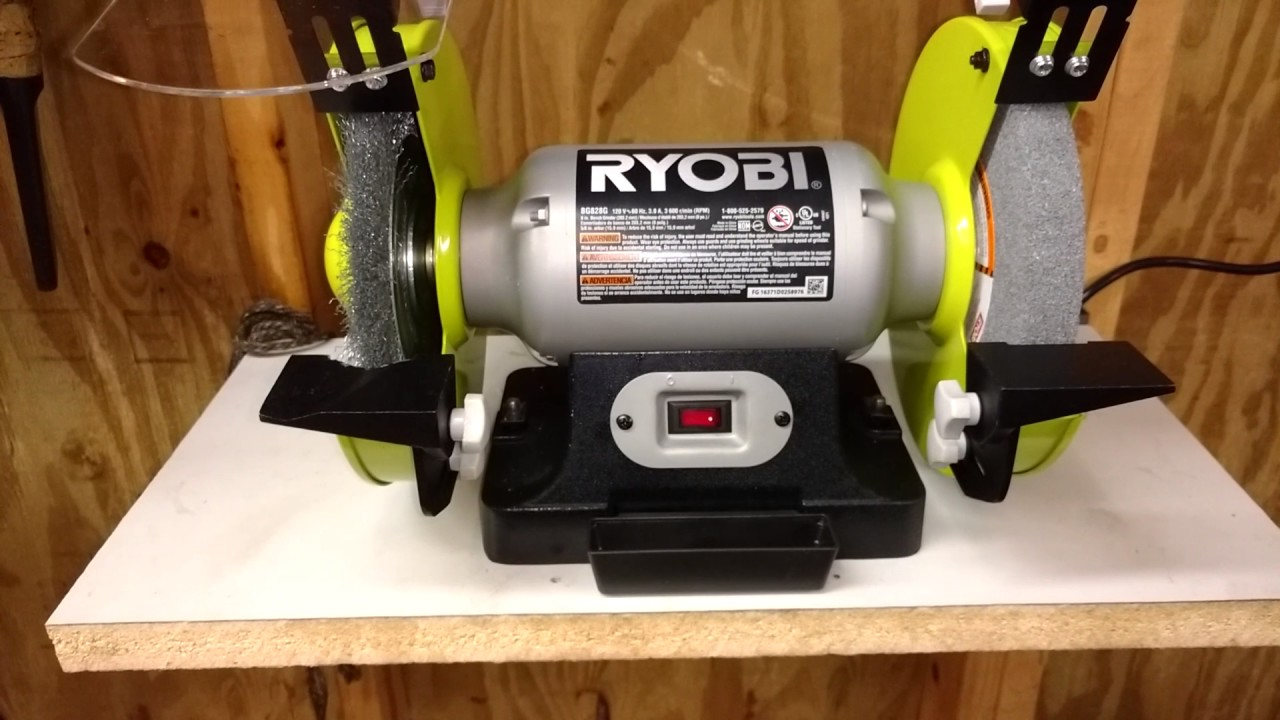 8 Inch Ryobi Bench Grinder Review Youtube