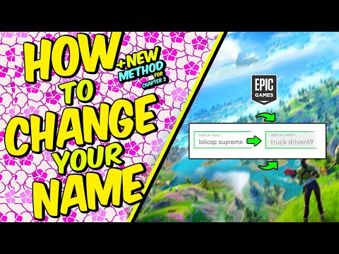 How To Change Your Fortnite Name - Fortnite Chapter 2