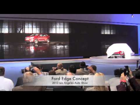 2013 La Auto Show Ford Edge Concept Unveiled During Press