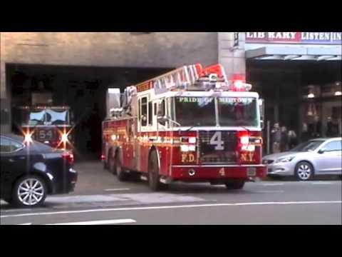 FDNY Fire Trucks Units Responding - YouTube