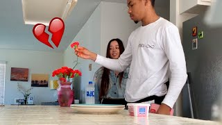 ANOTHER GUY BOUGHT ME FLOWERS PRANK ON BOYFRIEND! ** HE TRIED TO LEAVE **