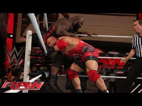 Ryback vs. Mark Henry: Raw, November 24, 2014