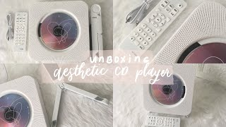unboxing: aesthetic cd player (wall-mounted and with stand) | shopee philippines // minimalist