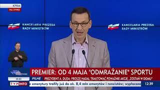 Konferencja prasowa Premiera - 25 kwietnia 2020 r.