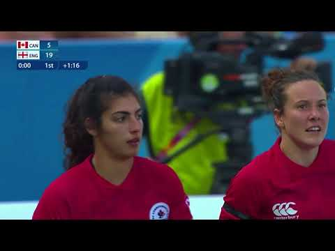 Women's Rugby 7s Commonwealth Games Day 3: Canada vs England (Courtesy of DAZN)