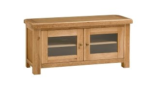 "Delaware Oak Large 56"" Tv Unit - Pinesolutions"