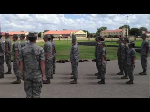 AFROTC Drill - Fall In, Sizing, Fall Out, Road Guard